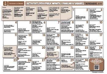Calendari familiar de novembre 2019